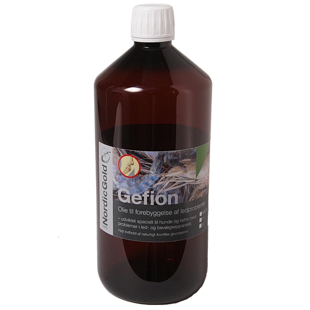 GEFION ledde- og gigtproblemer hos hunde og katte forebyggende olie