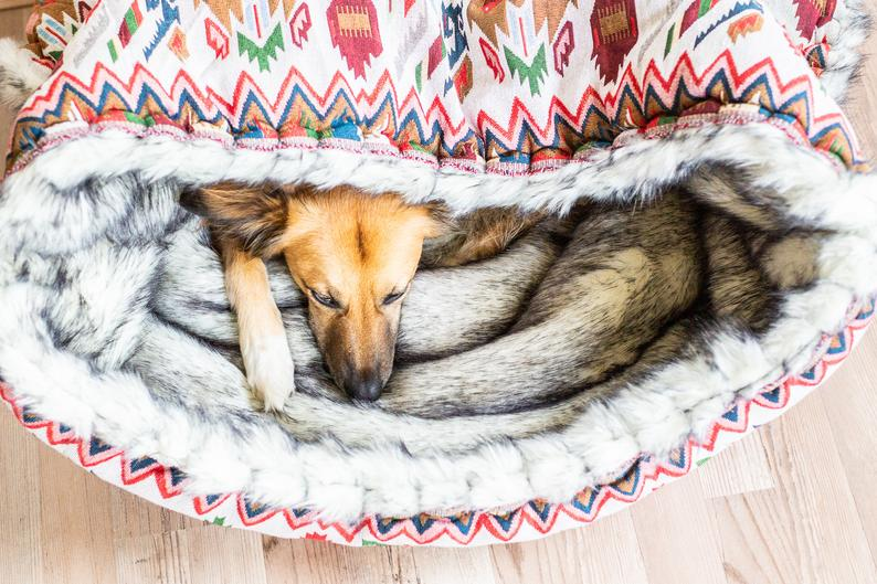 Varm hundesovepose til den kuldskære hund
